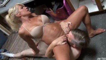 Two in the mouth one in her pussy