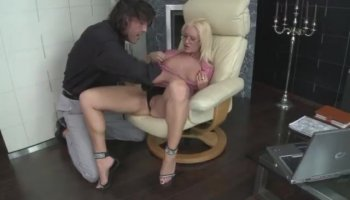 Amazing busty blonde Lena has a knack in seduction