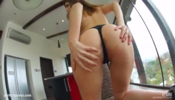 Teen cutie deepthroats hard cock and gets pussy pounded hard