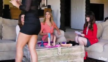 Stunning redhead Kimberly Brix takes a double dose